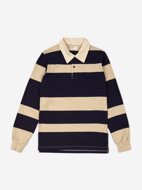 Rugby Shirt - Ecru/Navy Stripe