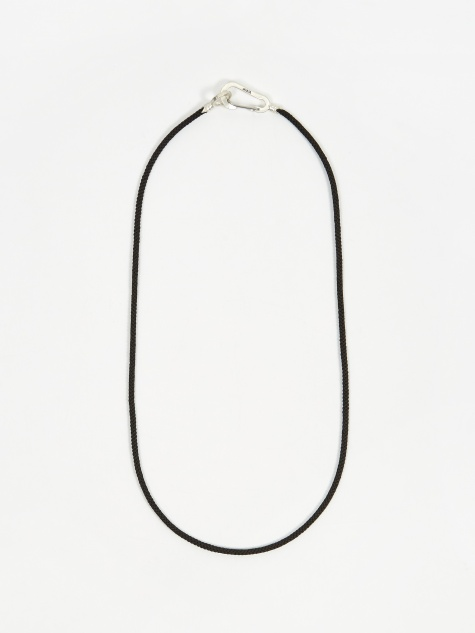 Snake Karibener Necklace - Silver/Onyx
