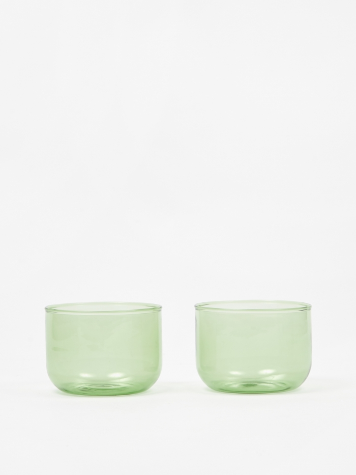 HAY Tint Glass Set of Two - Green (Image 1)