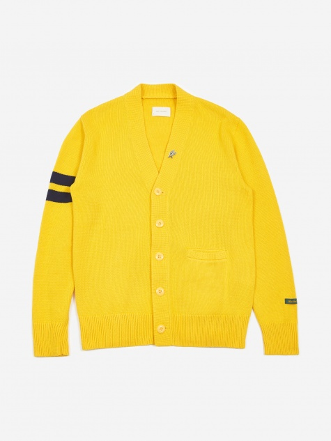 Lion Letterman Cardigan - Sunflower Yellow
