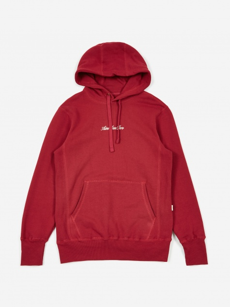 17oz Terry Logo Hoodie - Red Wine