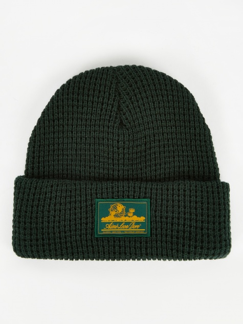Ald Waffle Knit Beanie Hat - Botanical Green