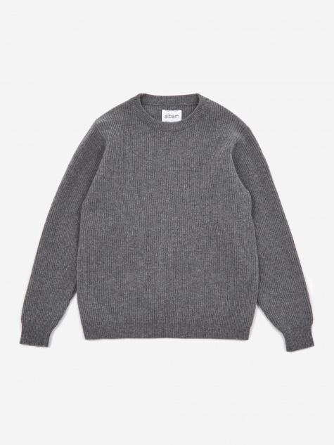 Ribbed Crewneck Jumper - Grey