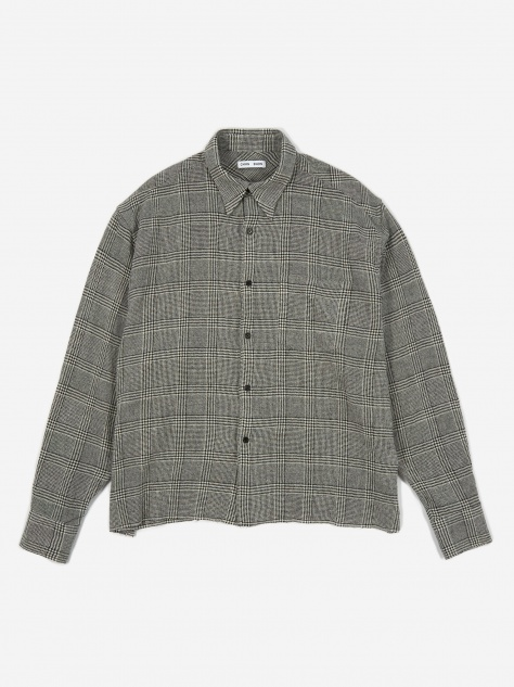 Cecil Raw Relaxed Fit Shirt - Grey Check