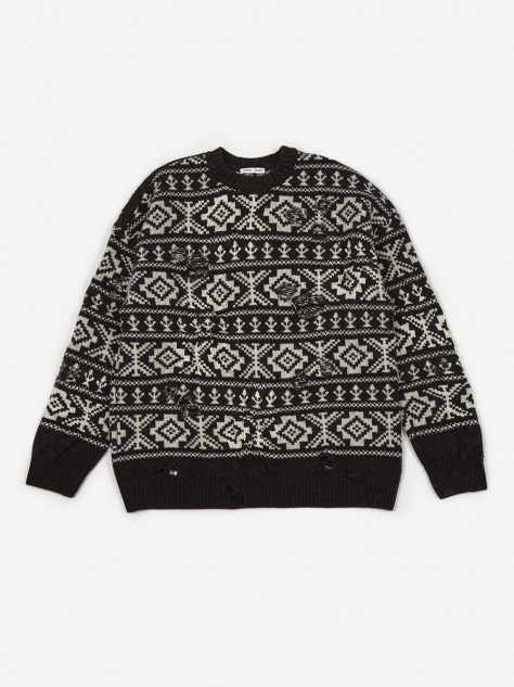 Theis Relaxed Fit Jumper - Fairisle