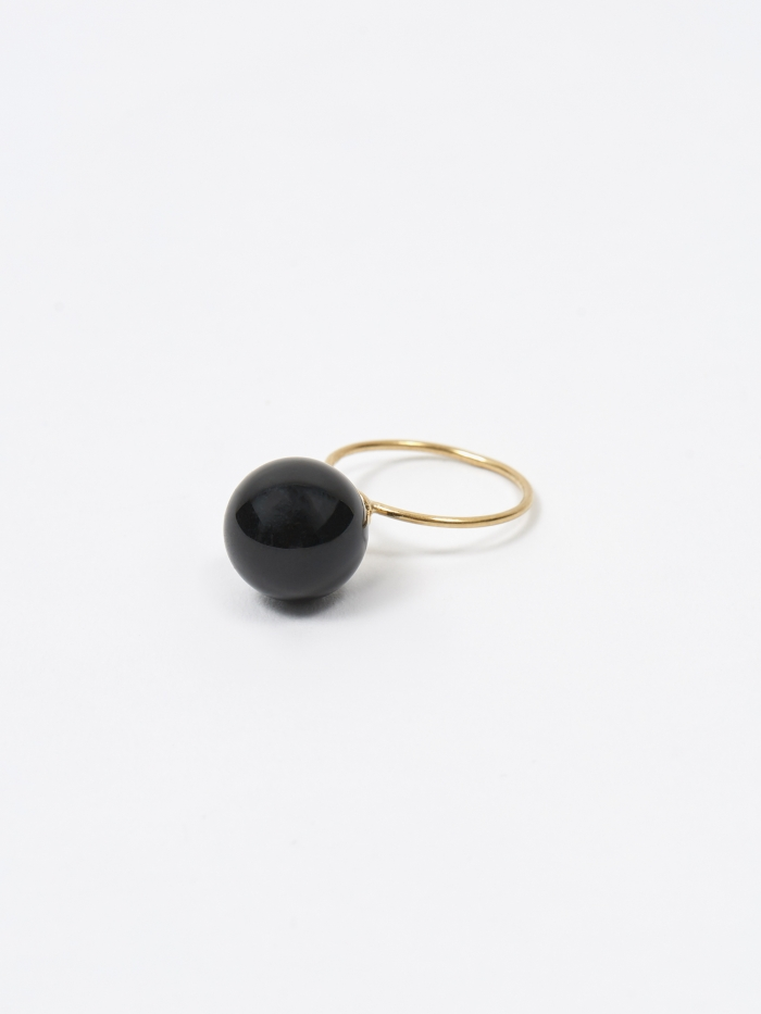 Beatriz Palacios Onyx Ring 12mm - Black Onyx (Image 1)