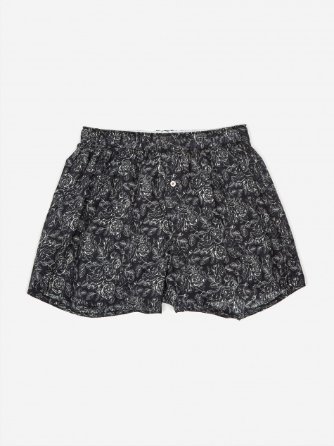 Druthers One Colour Rose Boxer - Black