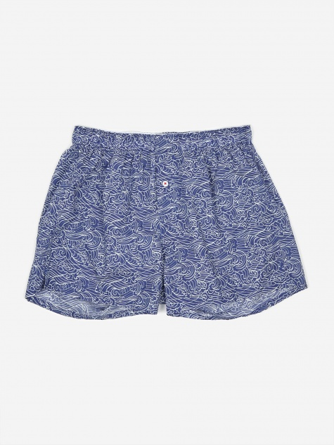 Druthers Waves Boxer - Dark Blue