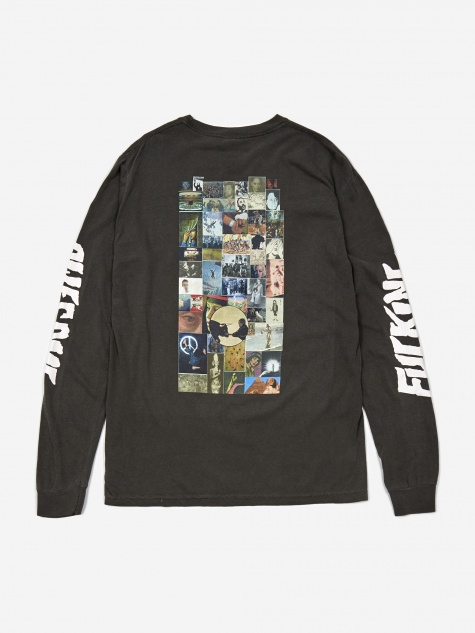 Collage Longsleeve T-Shirt - Pigment Dyed Pepper