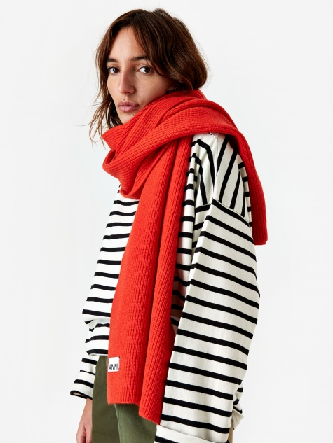 Knit Scarf - Fiery Red