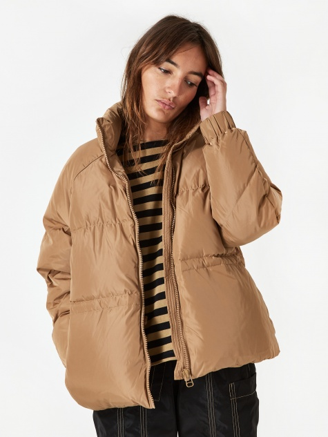 Tech Down Coat - Tigers Eye