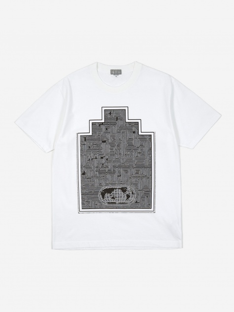 C.E Cav Empt World Map Ziggurat Shortsleeve T-Shirt - White