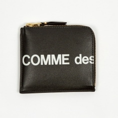 Comme des Garcons Wallets Huge Logo -(SA3100HL) Black