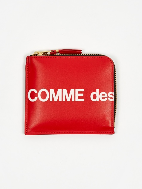 Comme des Garcons Wallet Huge Logo - (SA3100HL) Red
