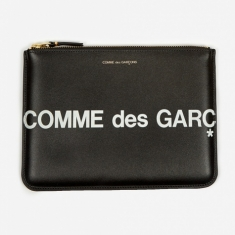 Comme des Garcons Wallets Huge Logo - (SA5100HL) Black