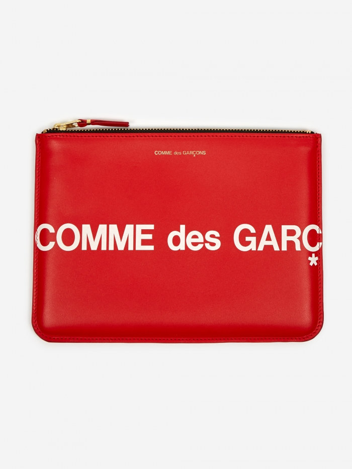 Comme des Garcons Wallets Huge Logo - (SA5100HL) Red (Image 1)