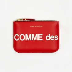 Comme des Garcons Wallets Huge Logo - (SA8100HL)Red
