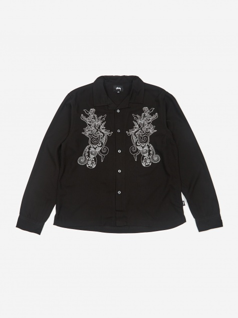 Embellished Dragon Longsleeve Shirt - Black