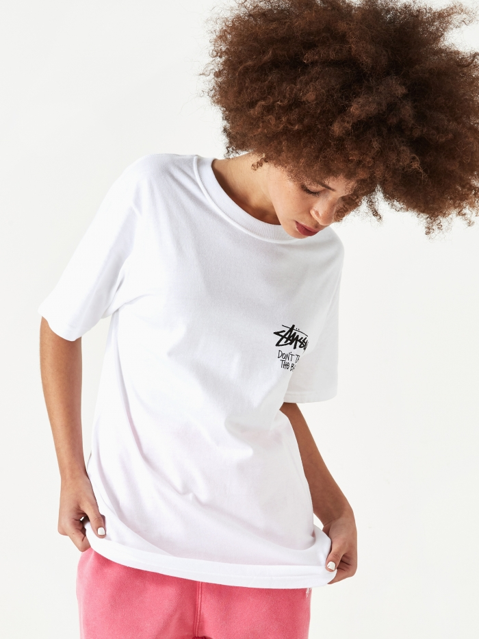 Stussy Dont Take The Bait T-Shirt - White (Image 1)