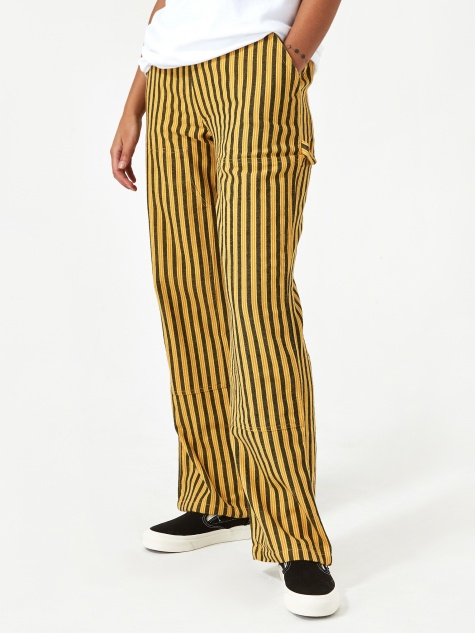Piper Stripe Carpenter Pant - Gold