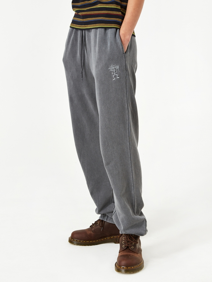 Stussy Pacific Webbing Terry Pant - Charcoal (Image 1)
