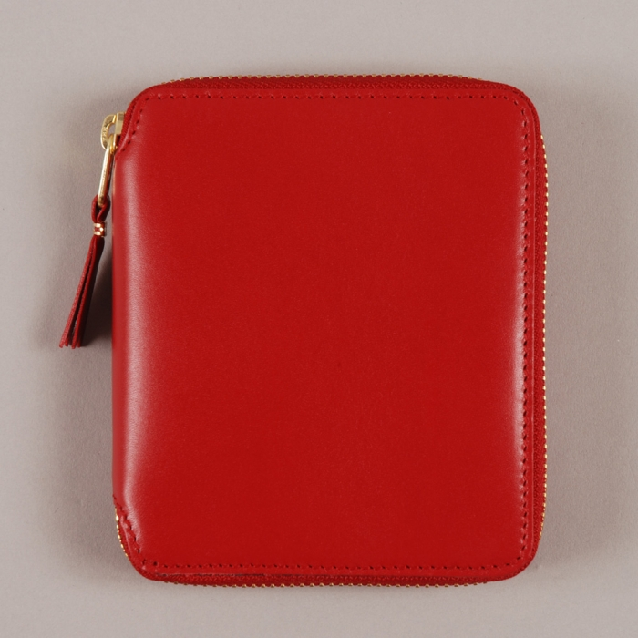 Comme des Garcons Wallets COMME des GARCONS Wallet Classic Leather Line M - Red (Image 1)