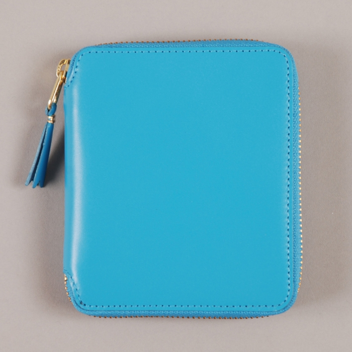 Comme des Garcons Wallets COMME des GARCONS Wallet Classic Leather Line M - Blue (Image 1)