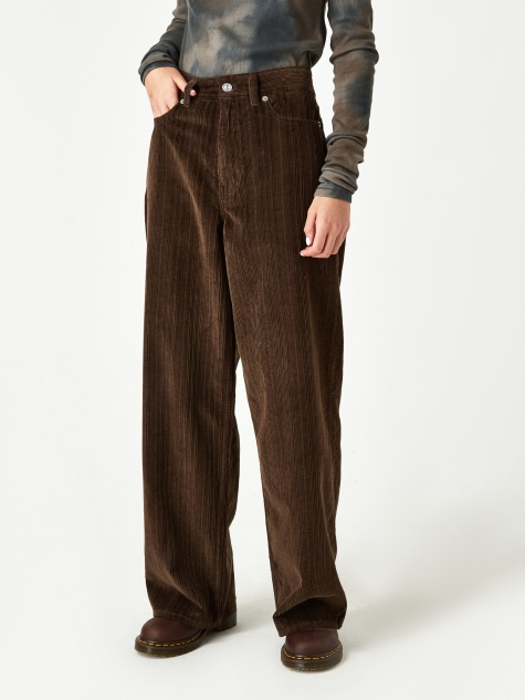 Full Corduroy Trouser - Chocolate Brown