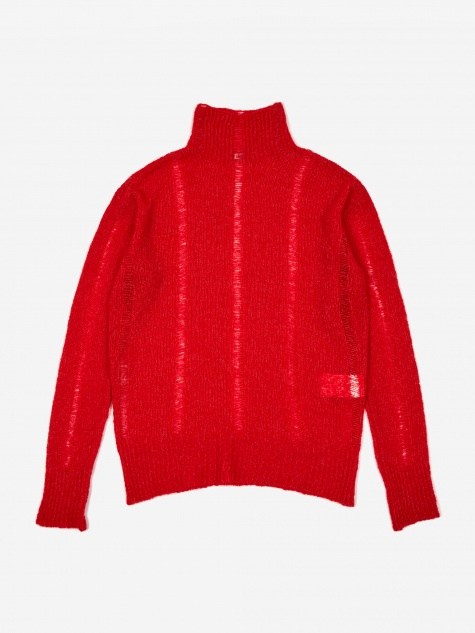 Submarine Roll Neck Jumper - Red