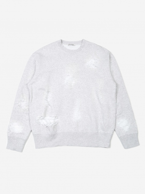 Patch Sweatshirt - Trashed Grey Melange