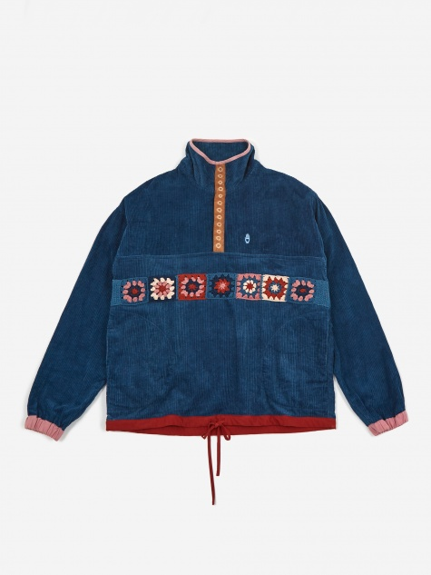 Polite Pullover Fat Corduroy Jacket - Natural Indigo