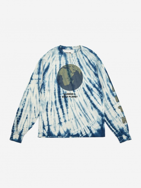 STORY mfg. Grateful Longsleeve T-Shirt - Indigo Ripple