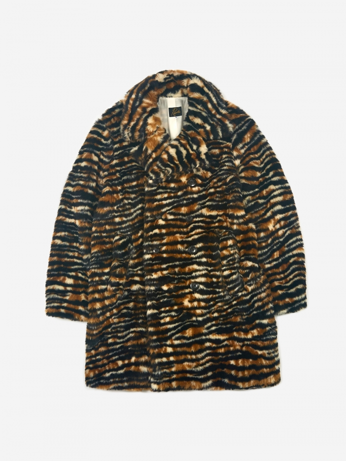 Needles Fur Pea Coat - Tiger (Image 1)