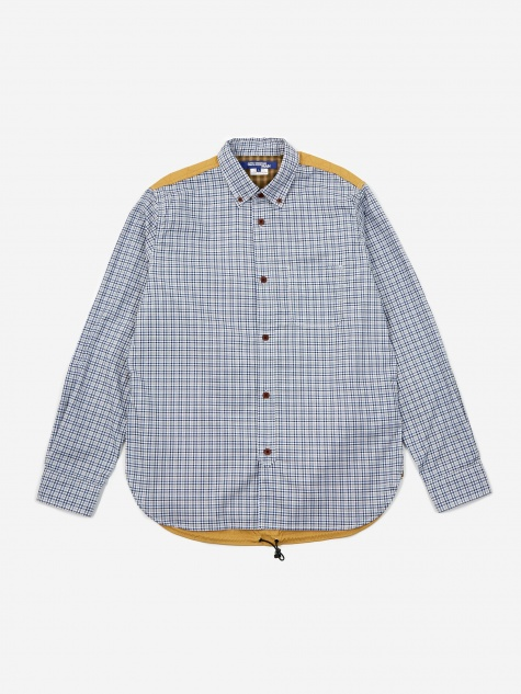 Check Cotton Oxford Shirt - White/Navy/Grey