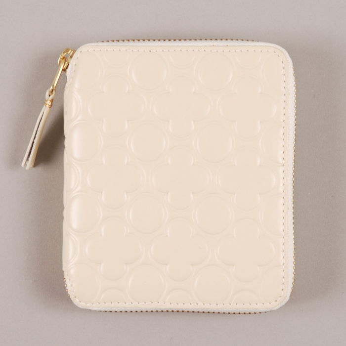 Comme des Garcons Wallets COMME des GARCONS Embossed Wallet M - Offwhite (Image 1)