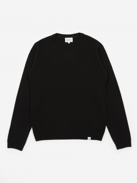 Sigfred Lambswool Jumper - Black