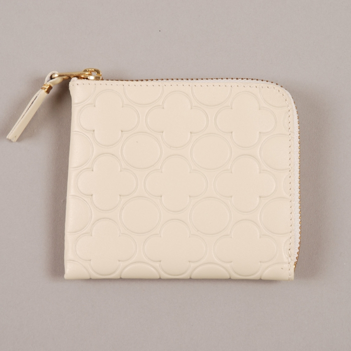 Comme des Garcons Wallets COMME des GARCONS Embossed Wallet S - Off White (Image 1)