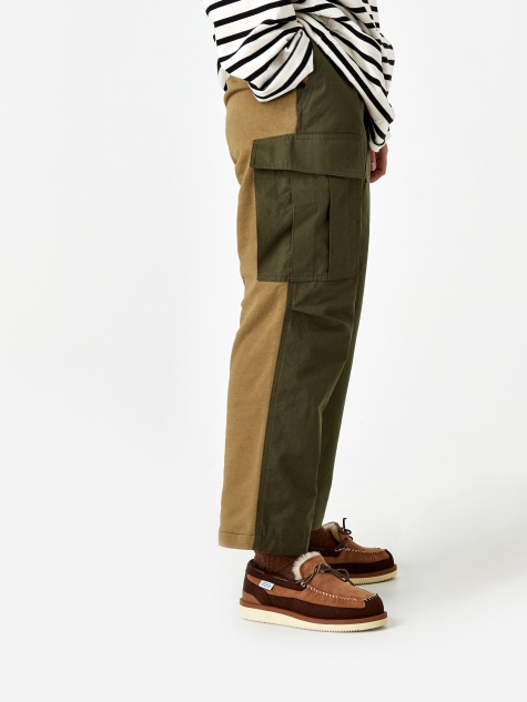 Two Tone Trouser - Khaki