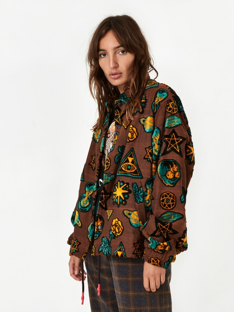 Pattern Jacket - Brown
