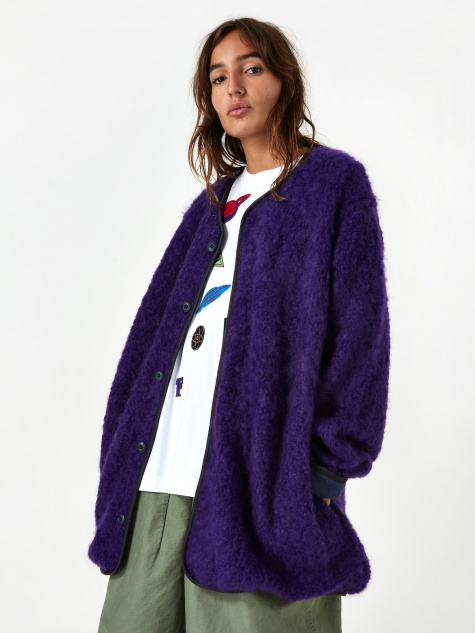 Fleece Fur Jacket - Purple