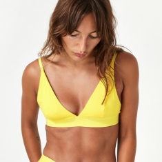 Baserange Triangle Bra Bamboo - Braid Yellow