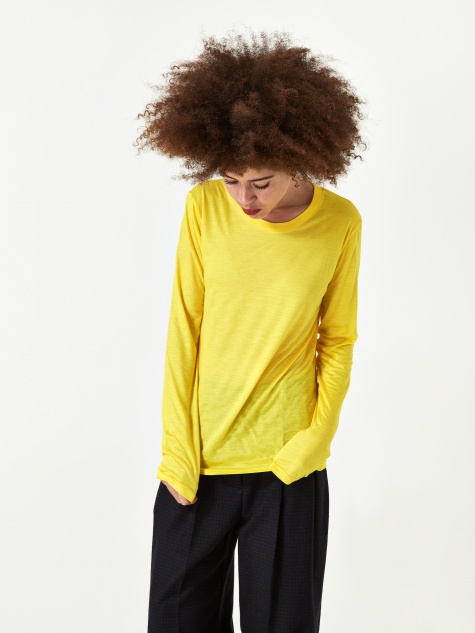 Longsleeve T-shirt Bamboo - Braid Yellow