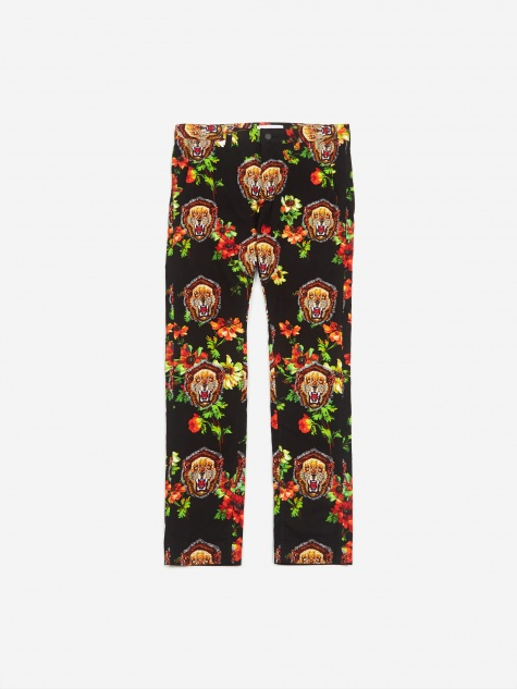 Facestasm Pattern Trouser - Black