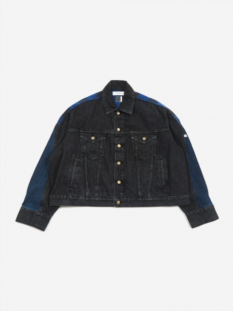 Facestasm Denim Jacket - Black