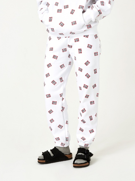 Mini Mini Allover Frame Sweatpant - White