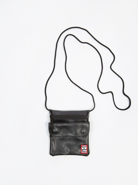 Frame Leather Shoulder Bag - Black
