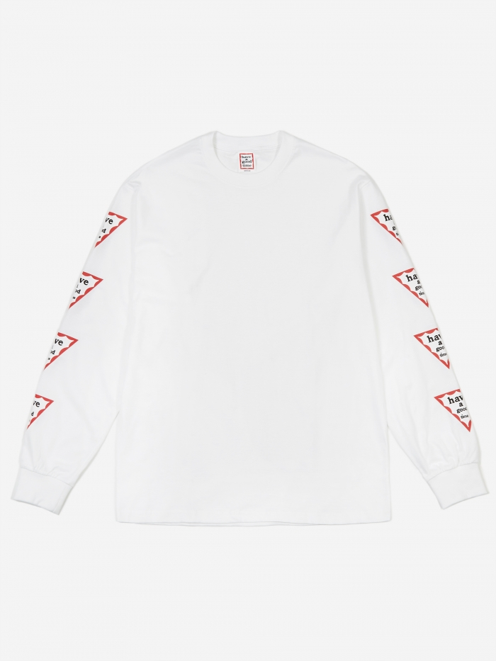 Have A Good Time Arm Triangle Frame Longsleeve T-Shirt - White (Image 1)