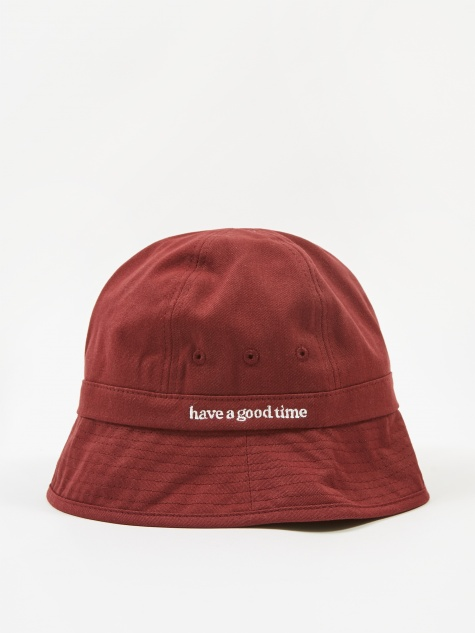 Side Logo Bucket Hat - Maroon