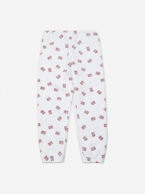 Mini Mini Frame Allover Sweatpant - White