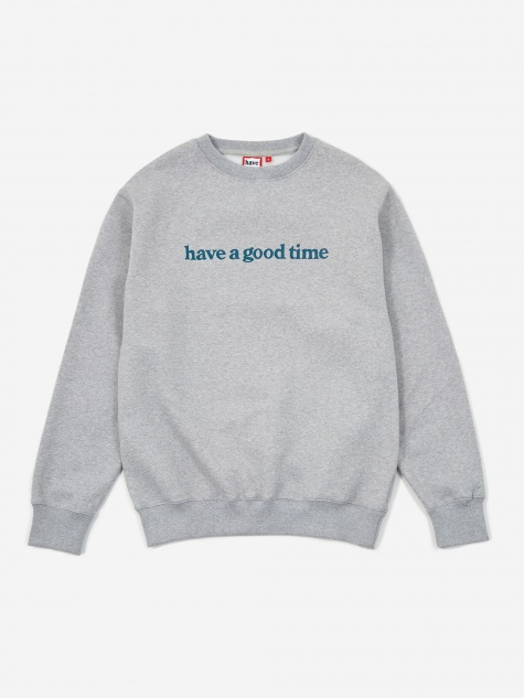 Side Logo Crewneck Sweatshirt - Heather Grey